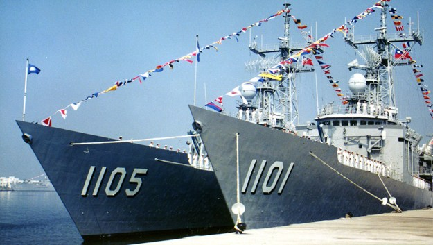 Cheng Kung class frigates based on U.S. designs.