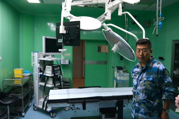 Senior Capt. Sun Tao in an examination room on the Peace Ark. Kyle Mizokami Photo