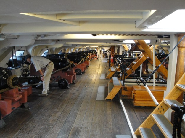 The ship's gun deck. Glenn Moyer Photo