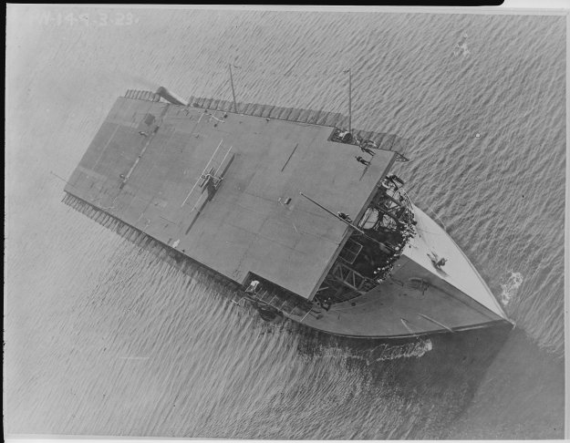 USS Langley (CV-1) in 1926. US Navy Photo
