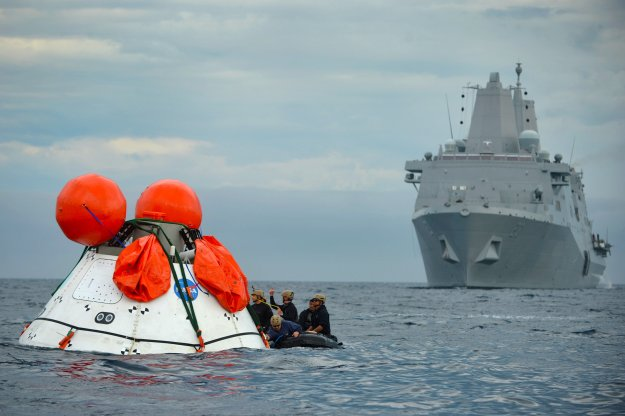 Navy and NASA Team Up For More Orion Capsule Recovery Tests