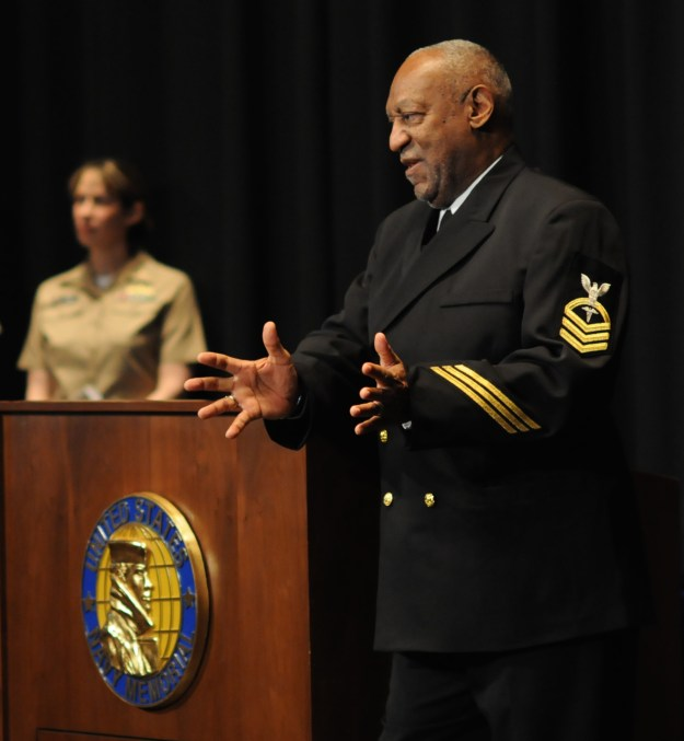Bill Cosby in 2011 during the presentation of the title Honorary Chief Hospital Corpsman. The Navy pulled the title from Cosby on Dec. 4, 2014. US Navy Photo