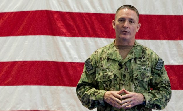 Master Chief Petty Officer of the Navy (MCPON) Mike Stevens in Bahrain on Nov. 26, 2014. US Navy Photo