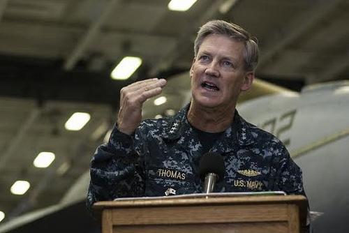 Vice Adm. Robert Thomas, 7th Fleet Commander