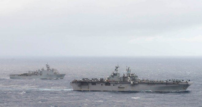 Two U.S. Amphibs and Marines Standing By Near Yemen