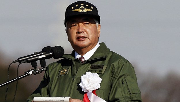 Japan's Defense Minister Gen Nakatani on Jan 11, 2015. via Reuters