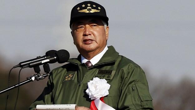 Japan's Defense Minister Gen Nakatani on Jan 11, 2015. via Reuters