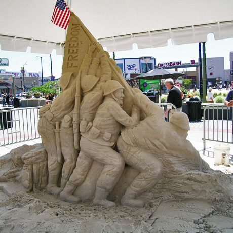 Sand sculpture by artist J.W. Gruber