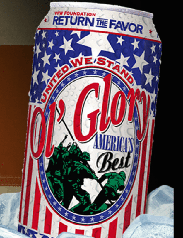 "Ol' Glory beer successfully appealed to federal regulator to allow the ""Pledge of Allegiance"" to be printed on every can"