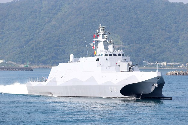 Guided missile corvette Tuo Jiang on December 2014. via wikipedia