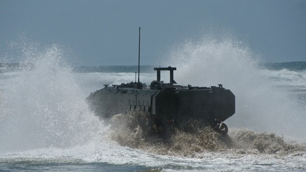 BAE Systems' Amphibious Combat Vehicle 1.1 entrant. BAE Systems photo.
