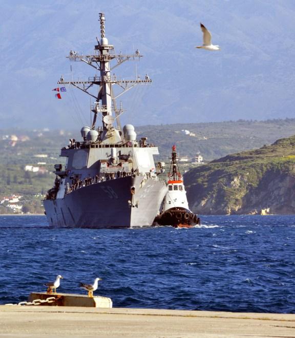 Destroyer USS Laboon, French Surveillance Ship Enter Black Sea