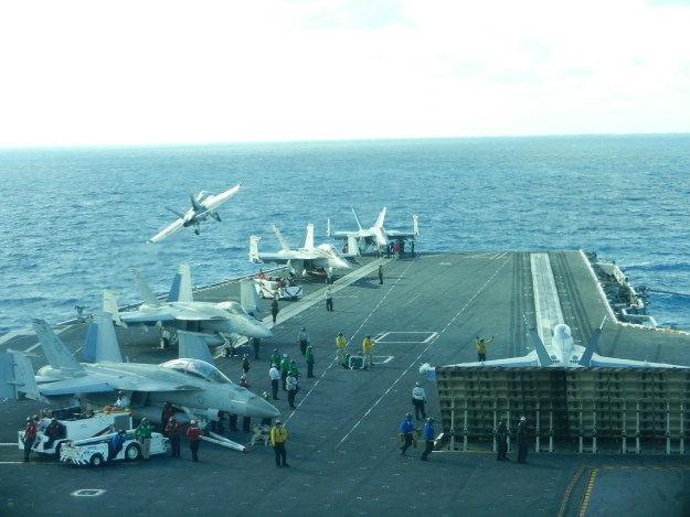 As USS John C. Stennis has gone through its pre-deployment certifications and workups, it is the first carrier to do so using the CANES network environment. USNI News photo.
