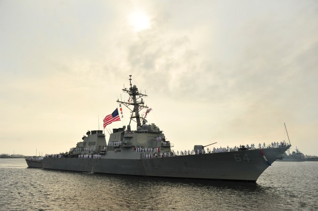 Last Rota-bound Destroyer USS Carney Leaves Mayport