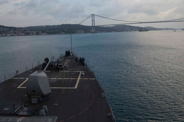 USS Donald Cook leaves the Black Sea on Sept. 13, 2015. US Navy Photo