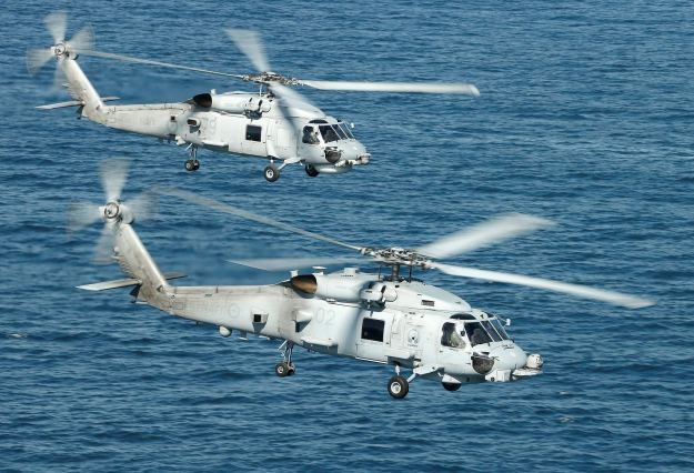 Australian Lockheed Martin MH-60R helicopters. Commonwealth of Australia - Department of Defence
