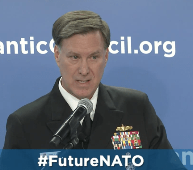 Adm. Mark Ferguson at The Atlantic Council on Oct. 6, 2015. Atlantic Council Image