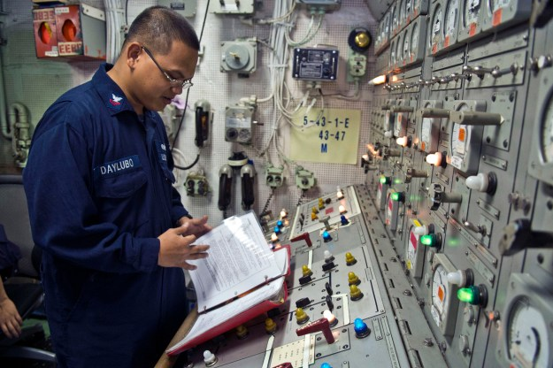 The Navy will begin certifying machinery control systems as being cyber safe prior to deployments, much like the service does for its combat systems, NAVSEA's chief engineer said. US Navy photo.