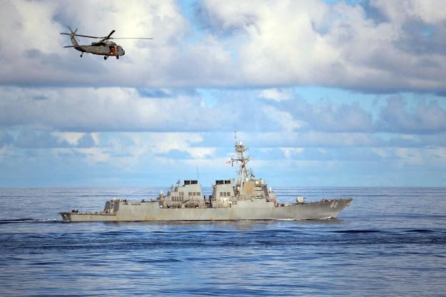 USS Lassen (DDG-82) is underway in the Philippine Sea in 2013. US Navy Photo