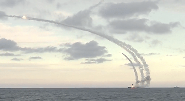 Video: Russian Corvettes Launch Cruise Missiles from Caspian Sea