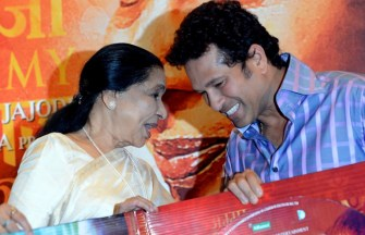 "Master Blaster Sachin Tendulkar unveils the music of ""Mai"""
