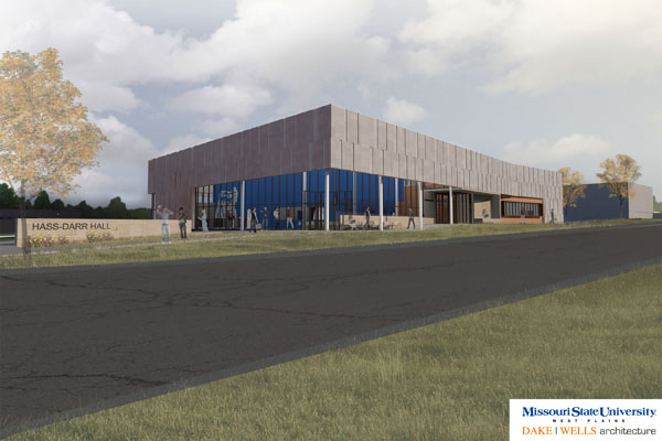 Concept rendering of Hass-Darr Hall