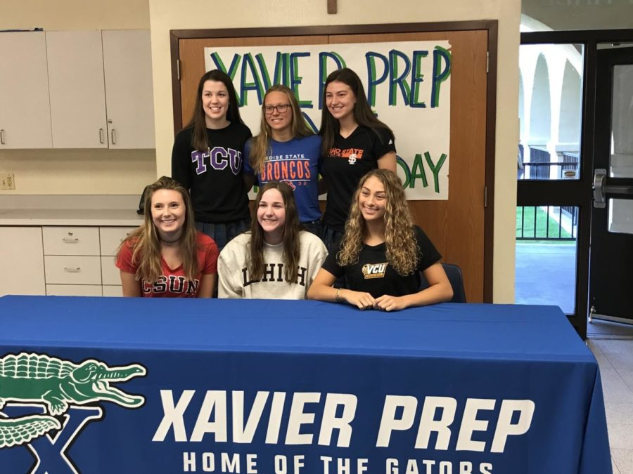 Xavier students sign National Letters of Intent \u2013 xpress