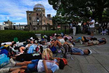Hiroshimas-dead-remembered-amid-protest-chants-from-Fukushima
