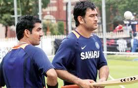 Gautam Gambhir and Dhoni
