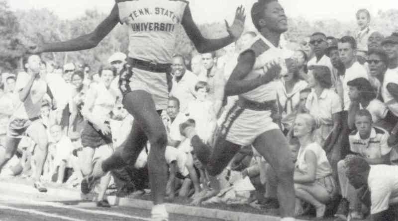 Wilma Rudolph (left) became the first American woman to win three gold medals in track and field when she achieved that feat at the 1960 Olympics./Photo courtesy of Tennessee State University/Sports Information/Athletics