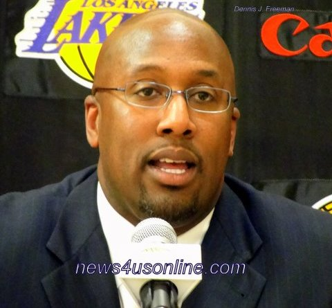 The Los Angeles Lakers are looking to Mike Brown to lead them to more NBA titles./Photo Credit: Dennis J. Freeman/news4usonline.com