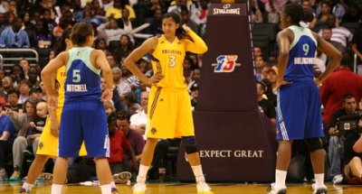 WNBA star Candace Parker is probably wondering what's goin on with her Los Angeles Sparks team./Photo Credit: Kiahna Manker
