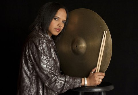 """Marching to a different drummer is Teri Lyne Carrington and her Grammy-winning CD """"The Mosaic Project."""" Photo Credit: Tracey Love"""