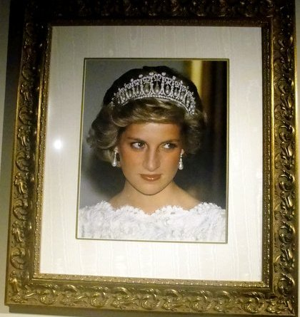 "A photo of Princess Diana in the Queen Mary exhibit, ""Diana, A Celebration."" Photo/Dennis J.Freeman"