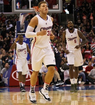 Chris Paul, Blake Griffin and DeAndre Jordan, shown here in a game against the Atlanta Hawks, have the Los Angeles Clippers riding a 17-game winning streak. Photo Credit: Gary George II