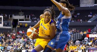 Nneka Ogwumike's dominant play was the difference in the Sparks defeating the Minnesota Lynx at Staples Center. Photo Credit: Jevone Moore/News4usonline.com