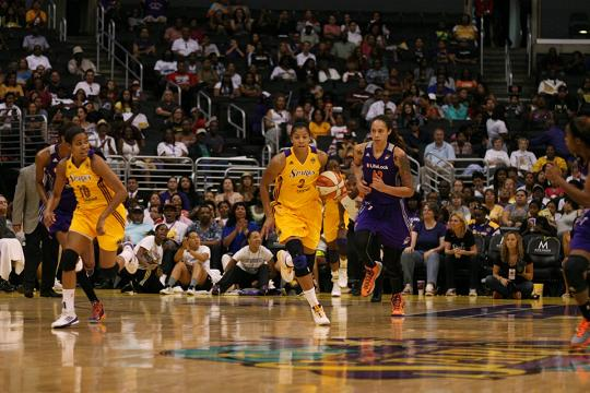 Candace Parker (3) and the Los Angeles Sparks now face elimination from the postseason after losing to Phoenix Mercury at Staples Center. Photo Credit: Erlinda Olvera/News4usonline.com