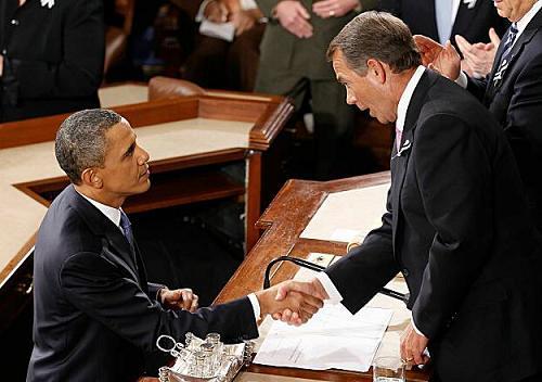 President Obama and House Speaker John Boehner in more pleasant  times.