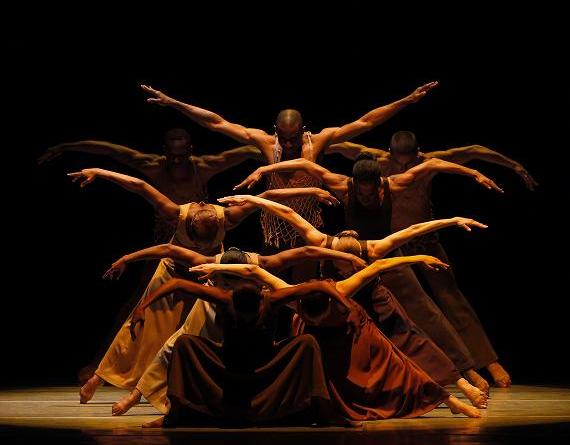Alvin Ailey American Dance Theater in Alvin Ailey's Revelations. Photo by Paul Kolnik.