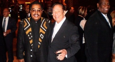 "Los Angeles CLippers owner Donald Sterling with Black Business Association President Earl ""Skip"" Cooper at the 2009 NAACP gala. Photo Credit: Dennis J. Freeman/News4usonline.com"