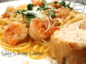 Spicy Shrimp Scampi www.jillianbenfield.com