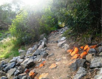 Unfinished Santiago Creek Bike Trail