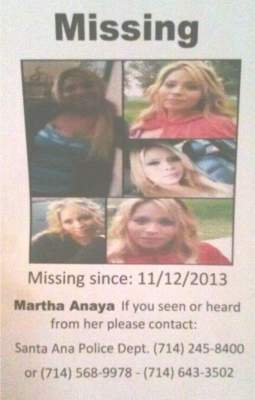 Missing Person, Martha Anaya
