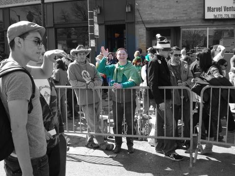 Guy in green shirt