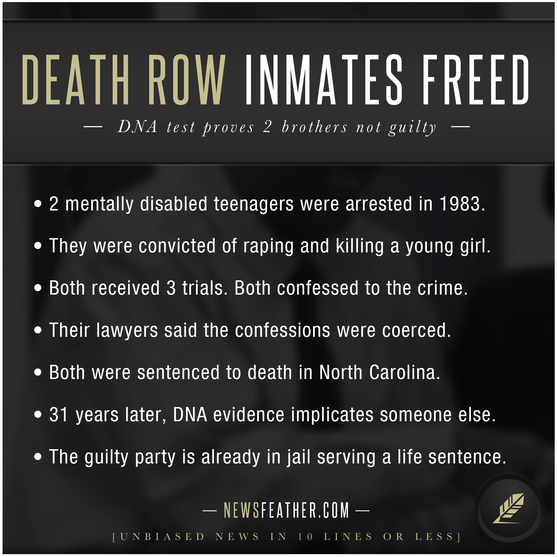 Chromosome In A Sentence Death Row Inmates Freed