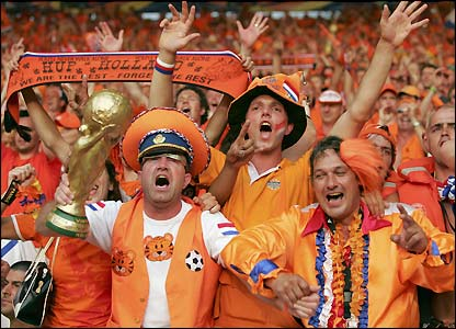 Excitement: Holland will try to win its first World Cup ever.