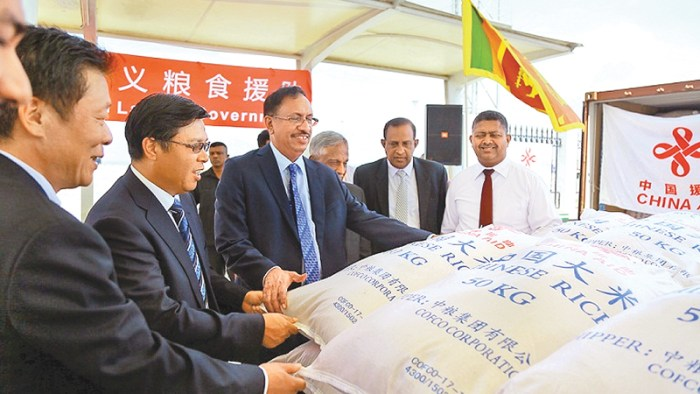China sends a further 1000 metric ton of rice to Sri Lanka