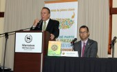 Products Association Chairman Manuel Cidre (at podium) and vice president Jaime Morales.