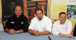 From left: Chef Mario Pagn (Laurel + Lemongrass), Chef Pedro Torres (En Boga GastroBar), and Chef David Chaymol (Bistro de Pars).