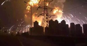 Huge explosion in Chinese city of Tianjin